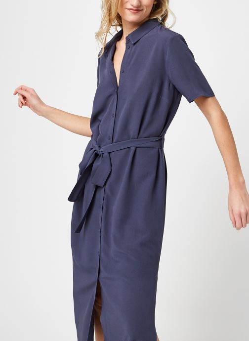 Vêtements Pieces Pccecilie Long Dress Bleu vue détail/paire