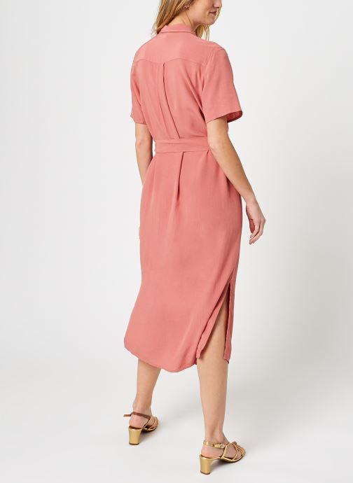 Kleding Pieces Pccecilie Long Dress Roze model