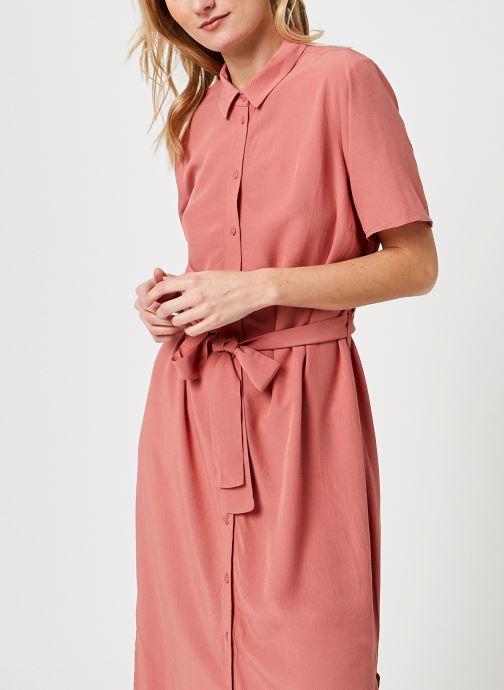 Kleding Pieces Pccecilie Long Dress Roze rechts