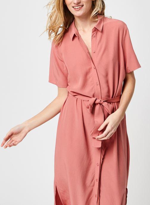 Kleding Pieces Pccecilie Long Dress Roze detail