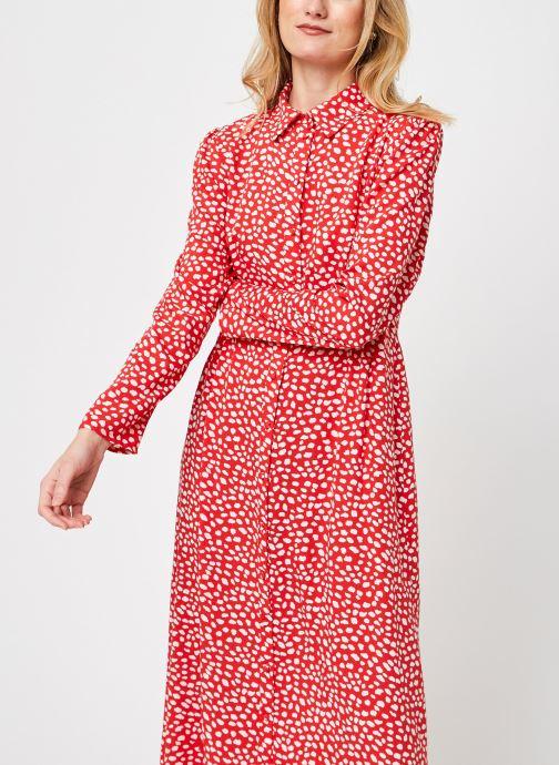 Kleding Pieces Pcroyals Ankle Dress Oranje detail