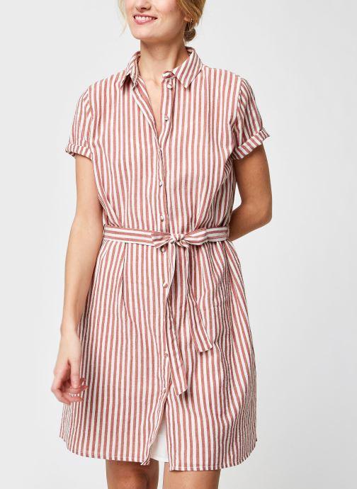 Vêtements Pieces Pcreya Shirt Dress Marron vue détail/paire