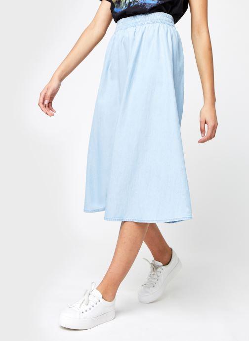 Vêtements Pieces Pcgeya Midi Lyocell Bleu vue détail/paire