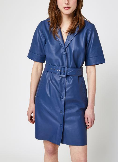 Kleding OBJECT Objzaria Dress Blauw detail