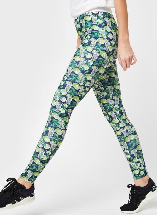 Vêtements Les Poulettes Fitness Legging Long Vert vue détail/paire