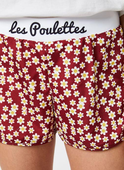 Vêtements Les Poulettes Fitness Short Bordeaux vue face