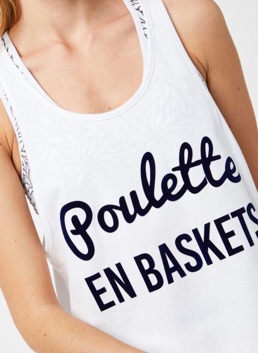 Vêtements Les Poulettes Fitness Debardeur Blanc vue face