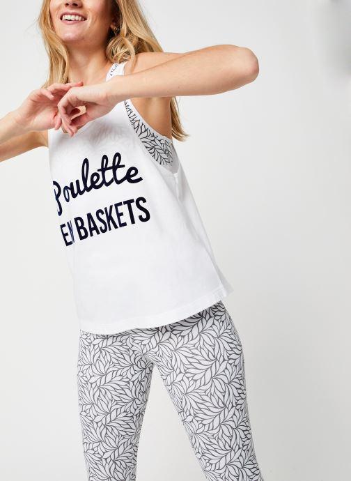 Vêtements Les Poulettes Fitness Debardeur Blanc vue détail/paire