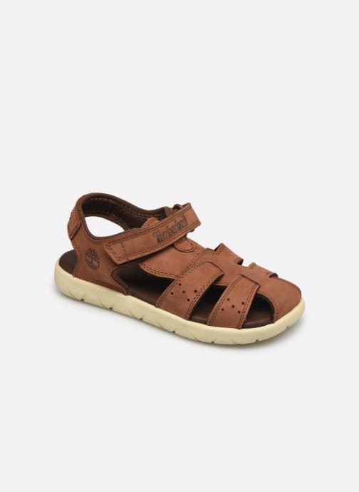 Sandales et nu-pieds Timberland NUBBLE SNDL 2STRP Marron vue détail/paire