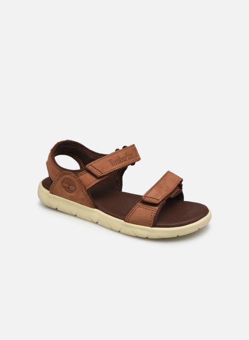 Sandales et nu-pieds Timberland NUBBLE LTHR FSHRMN Marron vue détail/paire