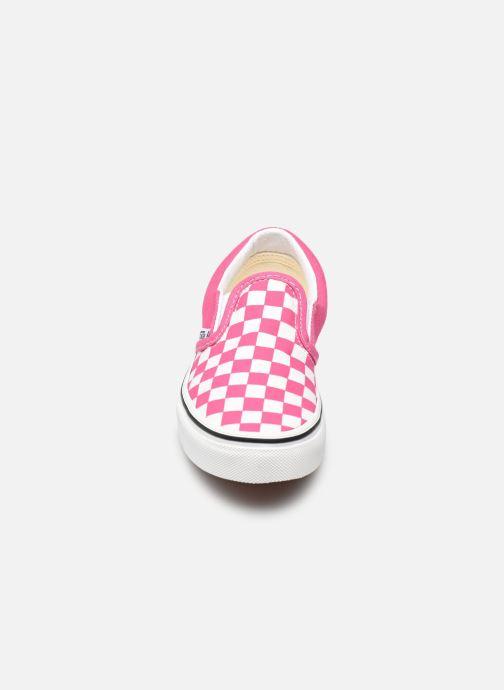 Sneaker Vans uy classic slip-on (checkerbrd)fch rosa schuhe getragen