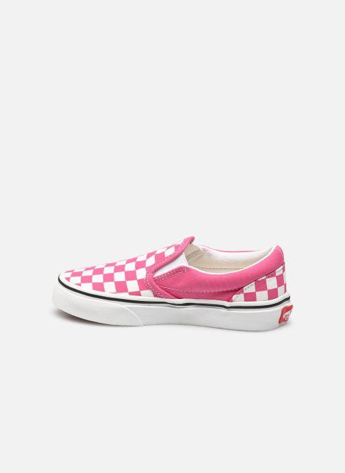 Sneaker Vans uy classic slip-on (checkerbrd)fch rosa ansicht von vorne