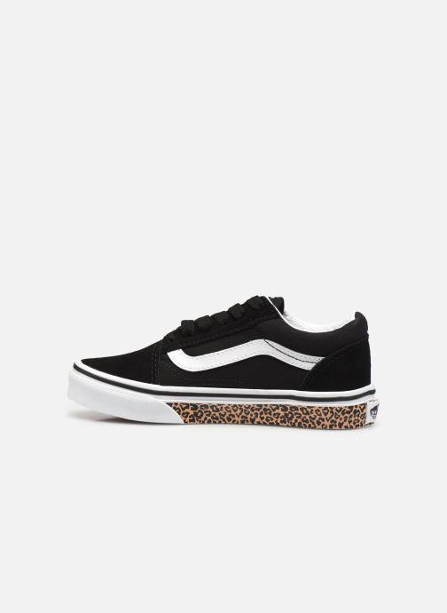 Sneakers Vans uy old skool (animal sidewal Zwart voorkant