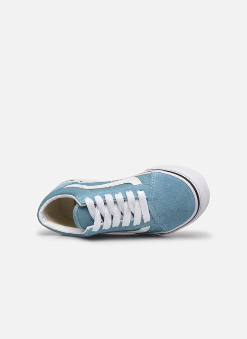 Baskets Vans uy old skool delphinium blue Bleu vue gauche