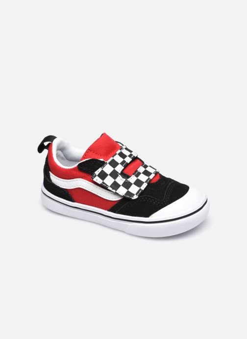 Baskets Vans td comfycush new skool v (checkerboard) Rouge vue détail/paire