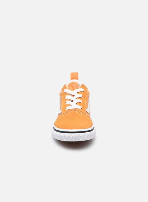 Sneaker Vans td old skool elastic lace golden nugget/ orange schuhe getragen