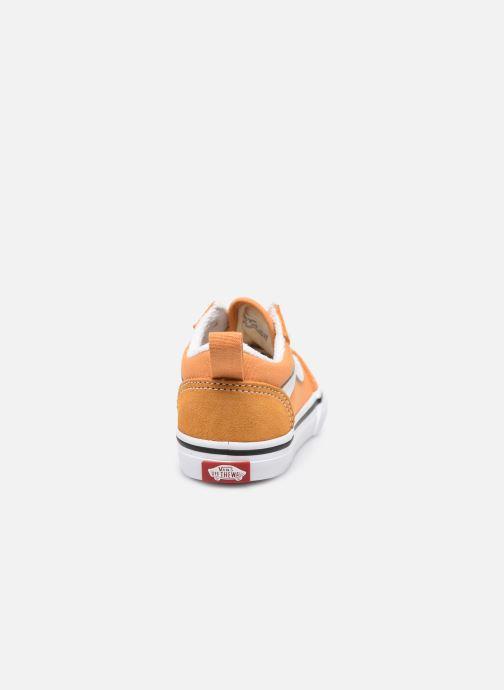 Sneaker Vans td old skool elastic lace golden nugget/ orange ansicht von rechts