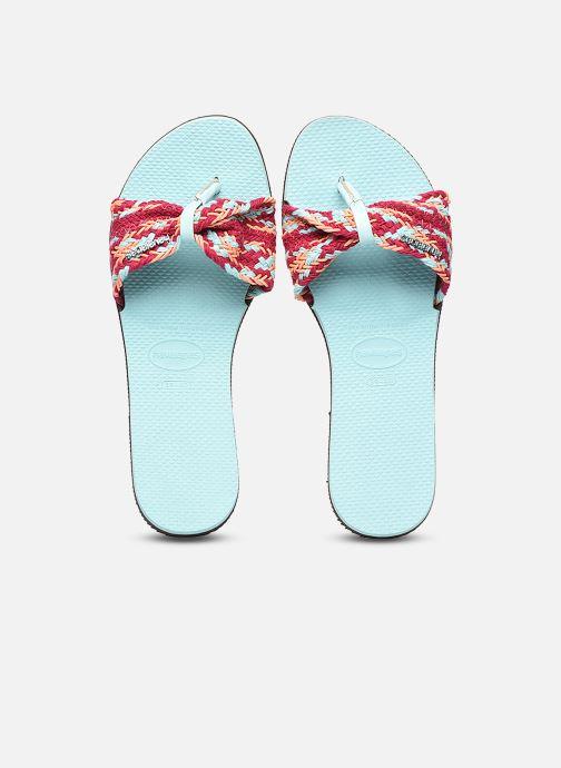 Clogs & Pantoletten Havaianas HAV. YOU ST TROPEZ MESH mehrfarbig schuhe getragen