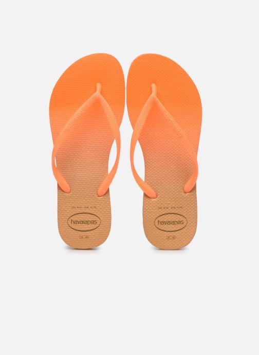 Zehensandalen Havaianas HAV. SLIM GRADIENT orange schuhe getragen