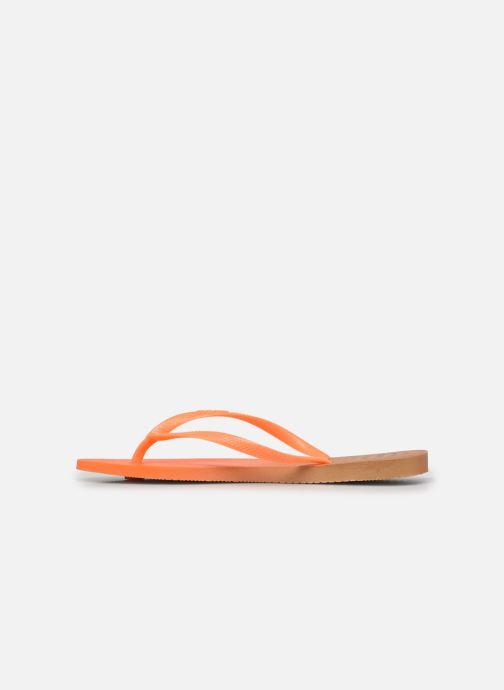 Zehensandalen Havaianas HAV. SLIM GRADIENT orange ansicht von vorne