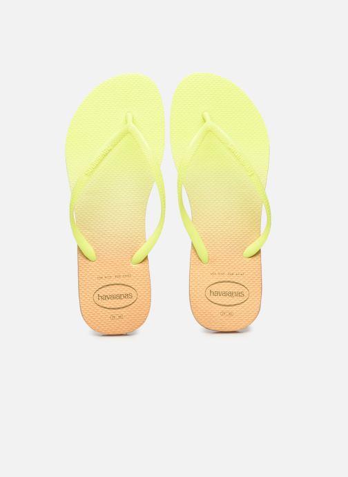 Zehensandalen Havaianas HAV. SLIM GRADIENT gelb schuhe getragen