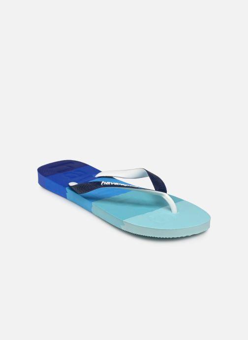 Zehensandalen Havaianas HAV. TOP LOGOMANIA MULTICOLOR blau schuhe getragen