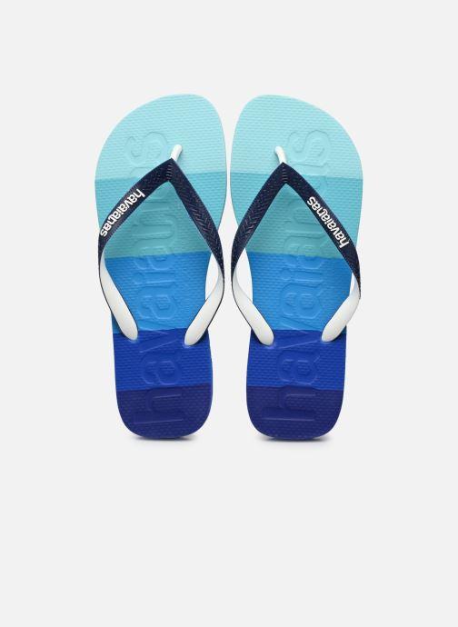 Slippers Havaianas HAV. TOP LOGOMANIA MULTICOLOR Blauw detail