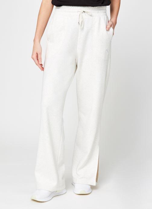 Vêtements Puma W Her Flar Pant Tr Blanc vue détail/paire