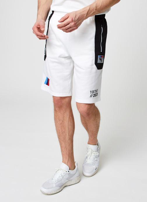 Vêtements Puma Fd Bmw Mms Sw Short Blanc vue détail/paire