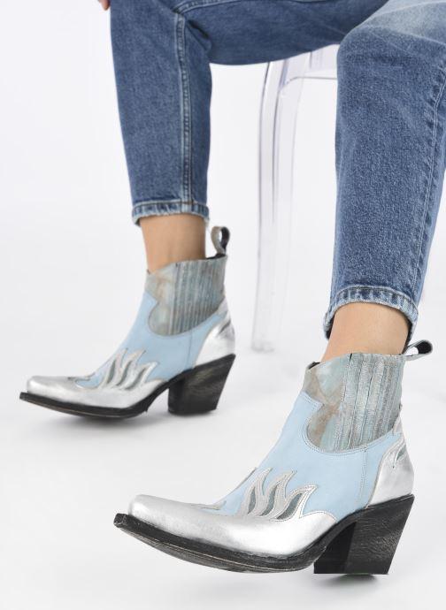Bottines et boots Mexicana Dandy Bleu vue bas / vue portée sac