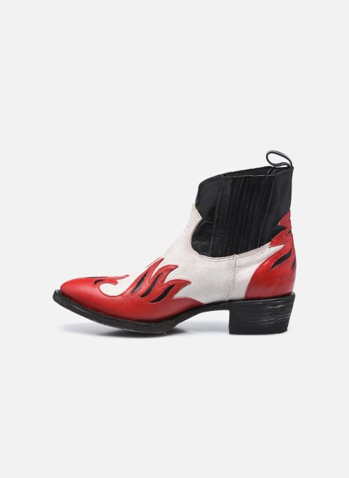 Botines  Mexicana Dandy Rojo vista de frente