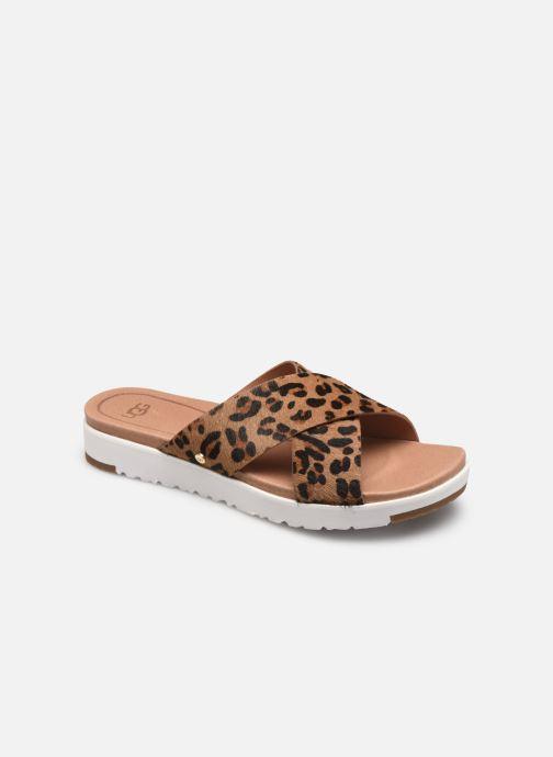 Sandalen UGG Kari Leopard braun detaillierte ansicht/modell