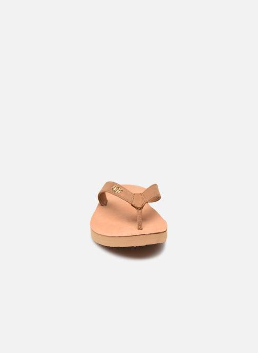 Tongs UGG Tawney Logo Marron vue portées chaussures