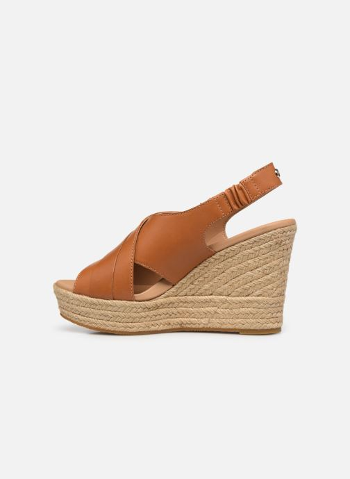 Sandales et nu-pieds UGG Claudeene Marron vue face