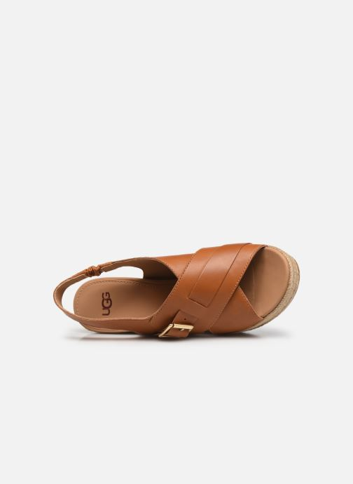 Sandales et nu-pieds UGG Claudeene Marron vue gauche