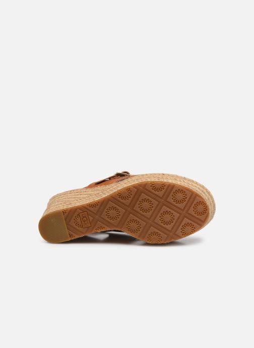 Sandales et nu-pieds UGG Claudeene Marron vue haut