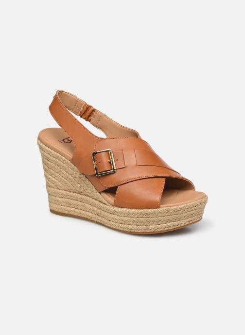 Sandales et nu-pieds UGG Claudeene Marron vue détail/paire