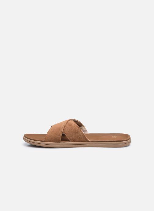 Sandali e scarpe aperte UGG Brookside Slide Marrone immagine frontale
