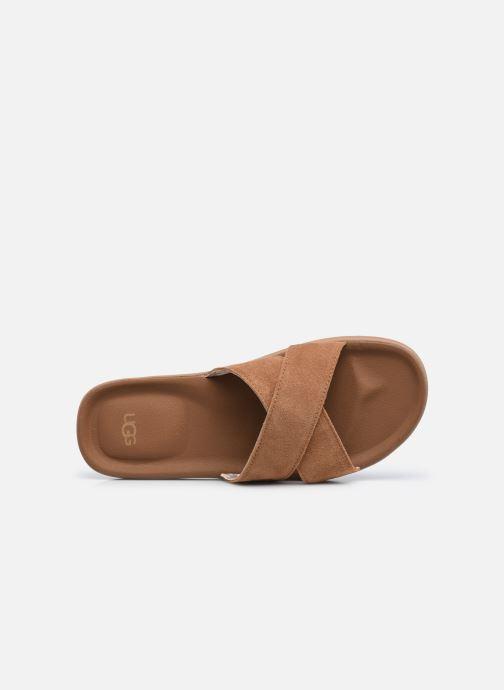 Sandali e scarpe aperte UGG Brookside Slide Marrone immagine sinistra