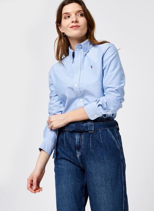 Kleding Polo Ralph Lauren Kendal-Long Sleeve-Shirt Blauw detail