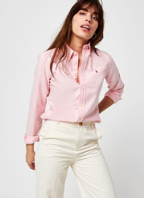 Kleding Polo Ralph Lauren Kendal-Long Sleeve-Shirt Roze detail