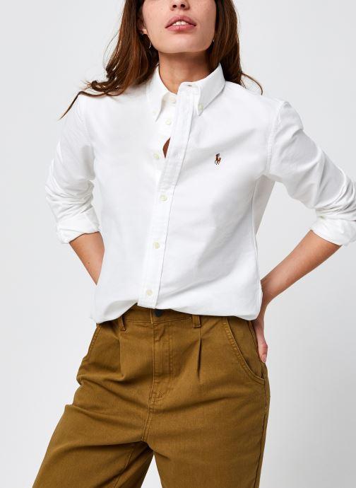 Kleding Polo Ralph Lauren Kendal-Long Sleeve-Shirt Wit detail