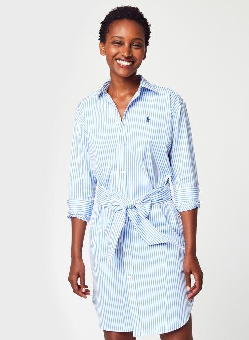 Vêtements Polo Ralph Lauren Ls Blke Dr-Long Sleeve-Casual Dress Bleu vue détail/paire