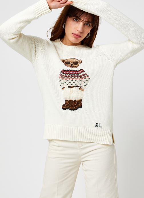 Vêtements Polo Ralph Lauren Frsle Br Cn-Long Sleeve-Sweater Blanc vue détail/paire