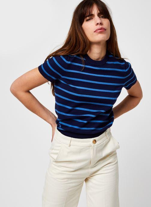 Kleding Accessoires Stripe Ss Po-Short Sleeve-Sweater