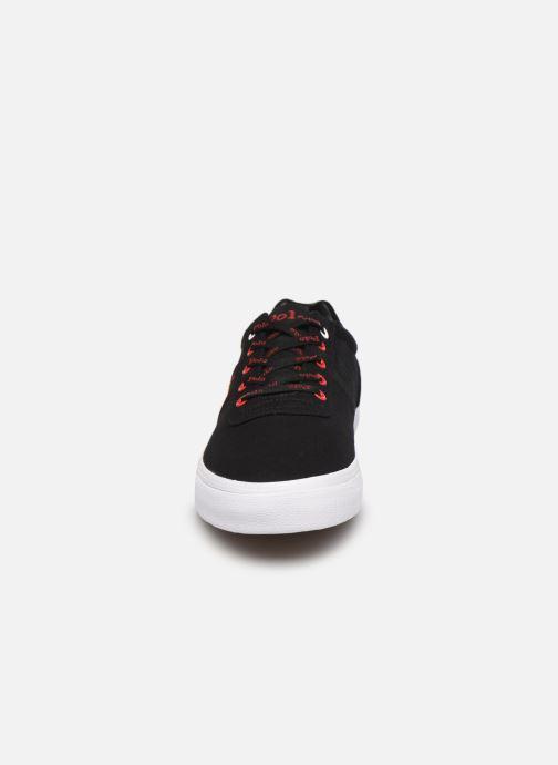 Sneaker Polo Ralph Lauren HANFORD RECYCLED CANVAS schwarz schuhe getragen