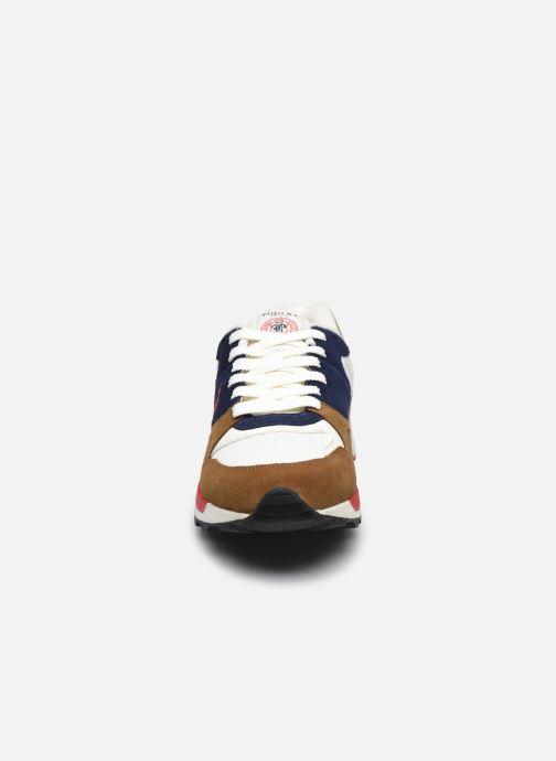 Sneaker Polo Ralph Lauren TRACKSTER PONY MESH SUEDE braun schuhe getragen