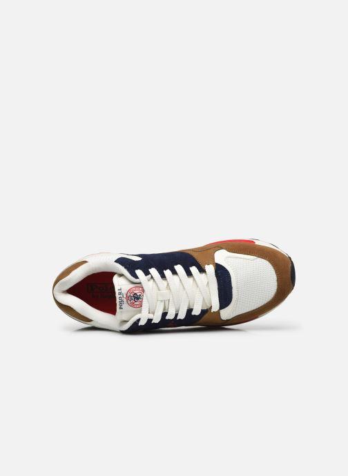 Sneaker Polo Ralph Lauren TRACKSTER PONY MESH SUEDE braun ansicht von links