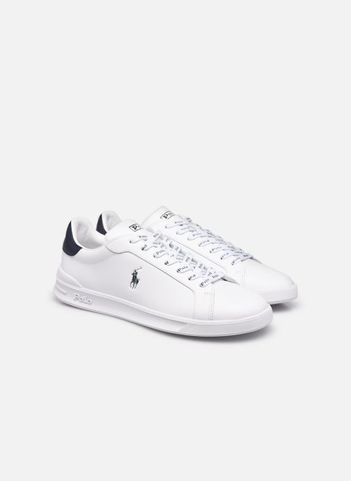 Sneakers Polo Ralph Lauren HRT Ct II Nappa Leather Bianco immagine 3/4