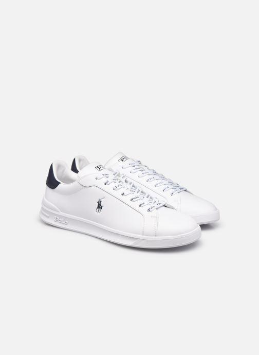 Sneakers Polo Ralph Lauren HRT Ct II Nappa Leather Bianco immagine 3/4